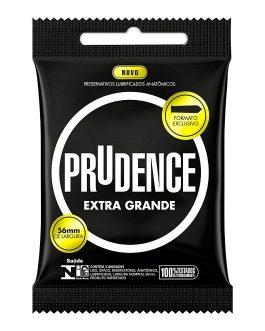 Preservativo Prudence Extra Grande com 3 Unidades