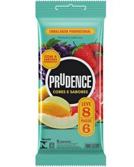 Kit Preservativo Prudence Cores e Sabores com 8 Unidades