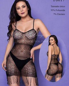 Mini Vestido com Franjinha Yaffa Lingerie