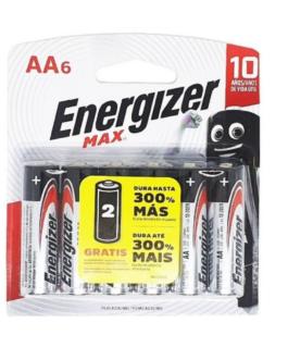 Pilha Energizer AA6 MAX com 6 Unidades