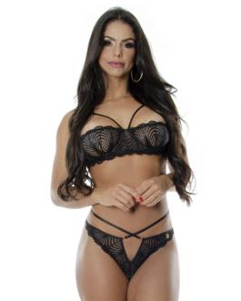 Conjunto Sexy em Renda com Tiras Ariane