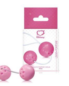 Bolinha de Pompoar com 2 Unidades – Rosa